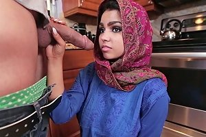 Submissive Indian Wifey Ada S Gives Solid Blowjob To Her White Man At Kitchen