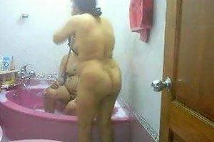 Desi Bhabhi Taking Bath With Husband's Elder Brother
